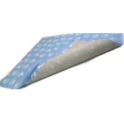 Vet Bed makuualusta: vaaleansininen tummansinisillä tassuilla